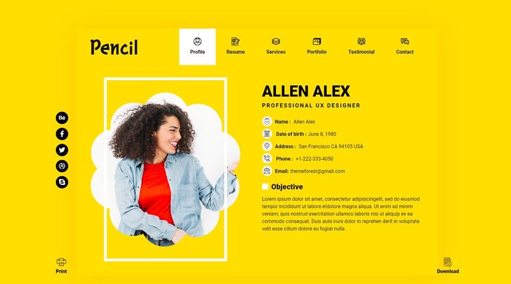 plantilla-html-gratis-pencil