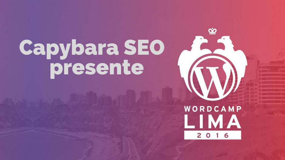 Capybara SEO Word Camp Lima