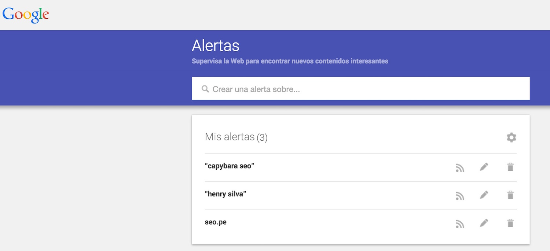 alertas de google capybara seo