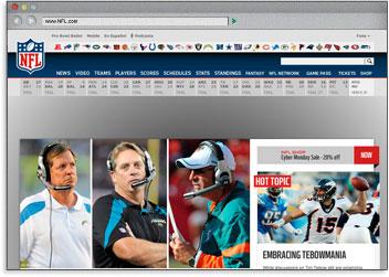 Página web de la NFL