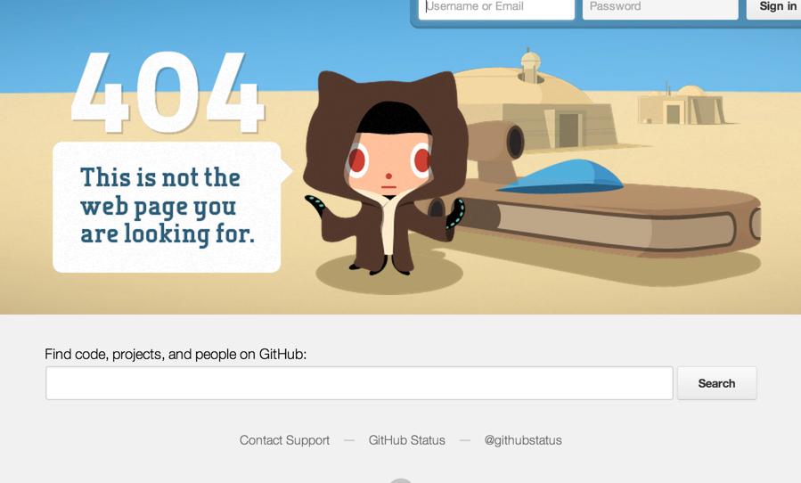 github 404 2