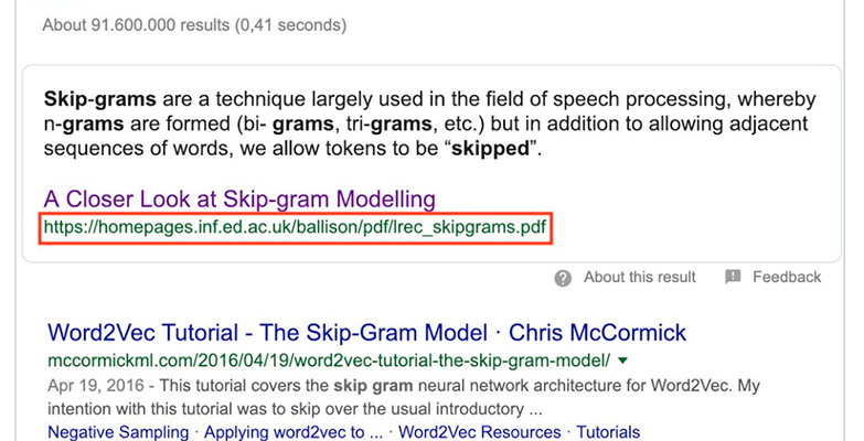 google featured snippet pdf seo