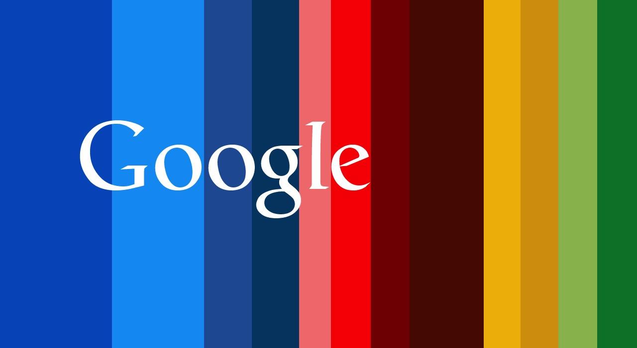 Google logo y fondo de colores