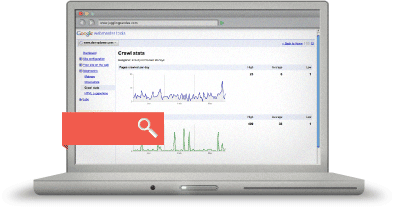 Laptop Google webmaster tools