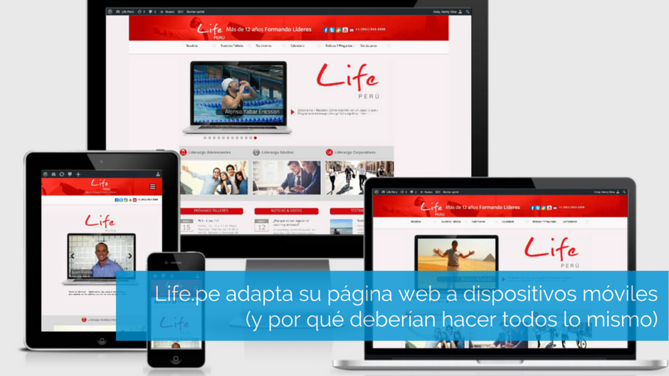 life peru adapta su web a dispositivos móviles
