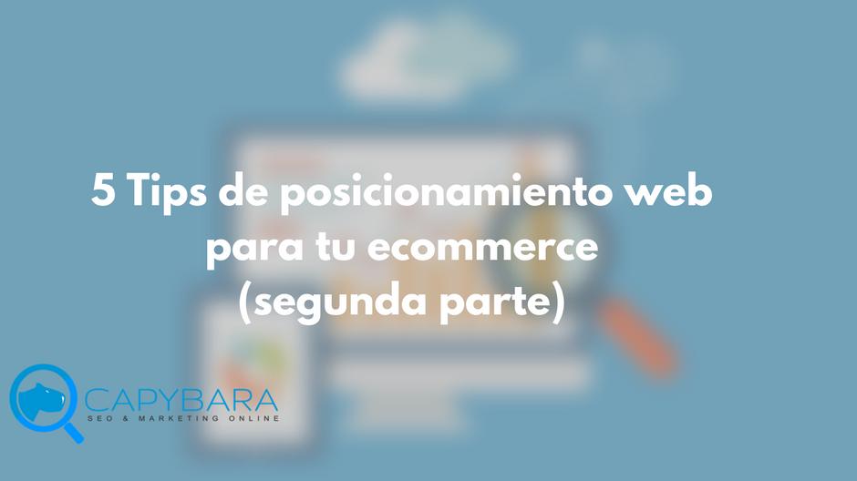 Tips de posicionamiento web para ecommerce