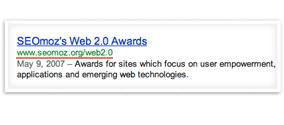 Url de google SEO Moz