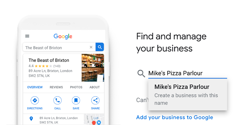ve google my business
