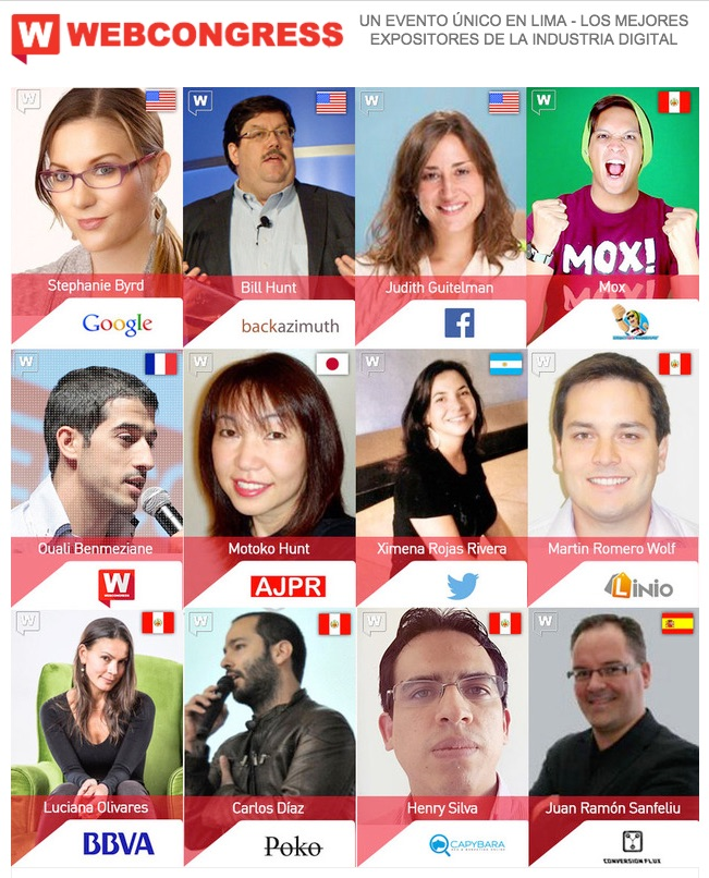 expositores webcongress lima 2015
